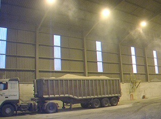 Dust control at a Grain Warehouse