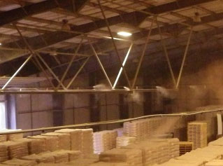 Dust Suppression in Bagged Powder Warehouse